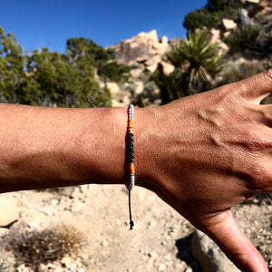 """Desert Magic"" Fiber Threads with Merino Wool Wanderlust Bracelet"