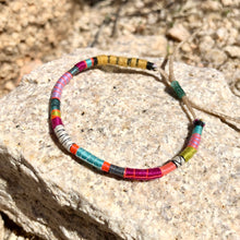 "Load image into Gallery viewer, ""Living is Art"" Fiber Threads with Merino and Alpaca Wool Wanderlust Bracelet"