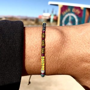 """The Artist"" Fiber Threads with Merino Wool Wanderlust Bracelet"