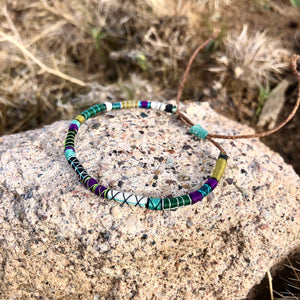 """Saguaro"" Fiber Threads with Merino Wool Wanderlust Bracelet"