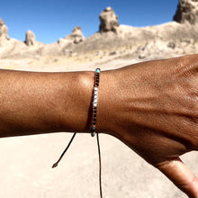 "Load image into Gallery viewer, ""Enjoy the Journey"" Fiber Threads with Merino Wool Wanderlust Bracelet"