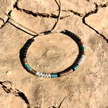 "Load image into Gallery viewer, ""Desert Mindfulness"" Fiber Threads with Merino Wool Wanderlust Bracelet"