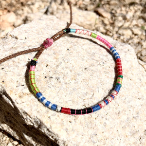 """Salvation Mountain"" Fiber Threads with Merino Wool Wanderlust Bracelet"