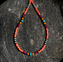 "Load image into Gallery viewer, ""Summer Glow"" Turquoise, Seed Bead Spirit Bracelet or Anklet"