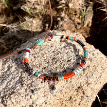 "Load image into Gallery viewer, ""YOLO"" Fiber Threads with Herkimer Diamond Stone Wanderlust Bracelet"