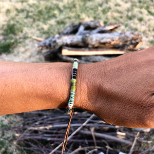 """Humility"" Fiber Threads with Merino Wool Wanderlust Bracelet"