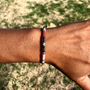"""Truth"" Fiber Threads with Merino Wool Wanderlust Bracelet"