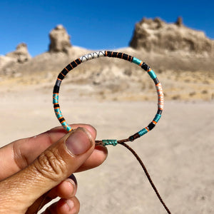 """Enjoy the Journey"" Fiber Threads with Merino Wool Wanderlust Bracelet"