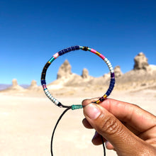 "Load image into Gallery viewer, ""Trona"" Fiber Threads with Merino Wool Wanderlust Bracelet"
