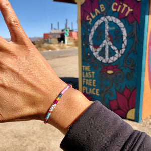 """Living is Art"" Fiber Threads with Merino and Alpaca Wool Wanderlust Bracelet"