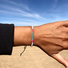 "Load image into Gallery viewer, ""Life is a Canvas"" Fiber Threads with Merino Wool Wanderlust Bracelet"