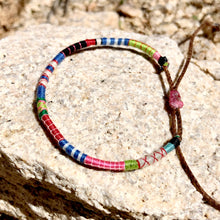 "Load image into Gallery viewer, ""Salvation Mountain"" Fiber Threads with Merino Wool Wanderlust Bracelet"