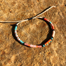 "Load image into Gallery viewer, ""Dancing Rabbit"" Cotton with Turquoise Wanderlust Bracelet"