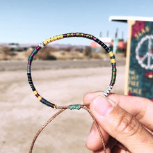 "Load image into Gallery viewer, ""The Artist"" Fiber Threads with Merino Wool Wanderlust Bracelet"