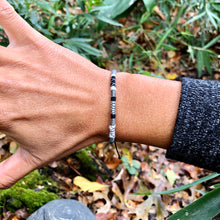 "Load image into Gallery viewer, ""Wild Lullaby"" Fiber Threads with Merino Wool Wanderlust Bracelet"