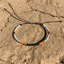 "Load image into Gallery viewer, ""Desert Magic"" Fiber Threads with Merino Wool Wanderlust Bracelet"