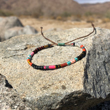 "Load image into Gallery viewer, ""Into the Fire"" Fiber Threads with Merino Wool Wanderlust Bracelet"