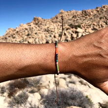 "Load image into Gallery viewer, ""Desert Life"" Fiber Threads with Merino Wool Wanderlust Bracelet"