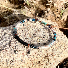 "Load image into Gallery viewer, ""The Navigator"" Fiber Threads with a Malachite Stone Wanderlust Bracelet"