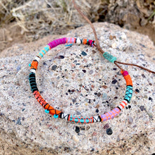 "Load image into Gallery viewer, ""Arizona"" Fiber Threads with Tibetan Turquoise Stone Wanderlust Bracelet"