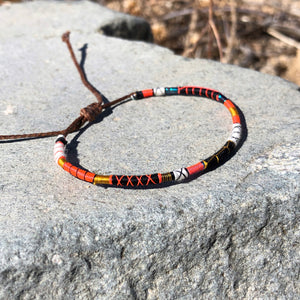 """I am Stronger with my Imperfections"" Fiber Threads with Merino Wool Wanderlust Bracelet"