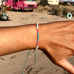 """Life is a Canvas"" Fiber Threads with Merino Wool Wanderlust Bracelet"