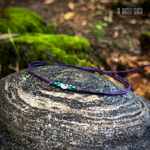 """Purple Moonbeam"" Turquoise, Moonstone Bracelet"