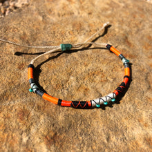 "Load image into Gallery viewer, ""Singing Coyote"" Cotton, Merino Wool, with Turquoise Wanderlust Bracelet"