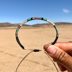 """Desert Mindfulness"" Fiber Threads with Merino Wool Wanderlust Bracelet"
