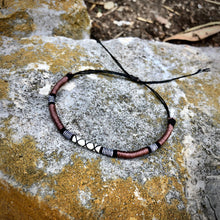 "Load image into Gallery viewer, ""Whitetail Deer"" Merino wool, Cotton, and Irish Waxed Linen Cord Dream Bracelet"