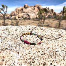 "Load image into Gallery viewer, ""The Art Effect"" Fiber Threads with Turquoise, Opal Stone, and Seed Bead Wanderlust Bracelet"