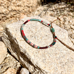 """Life is Wild"" Fiber Threads with Merino Wool Wanderlust Bracelet"