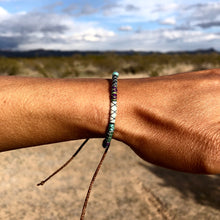 "Load image into Gallery viewer, ""Saguaro"" Fiber Threads with Merino Wool Wanderlust Bracelet"