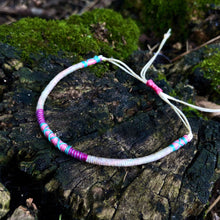 "Load image into Gallery viewer, ""Seoul"" Cotton and Irish Waxed Linen Cord Wanderlust Bracelet"