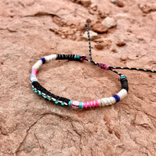 "Load image into Gallery viewer, ""Sandstone"" Fiber Threads with Turquoise Stone Wanderlust Bracelet"