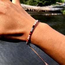 "Load image into Gallery viewer, ""Catch and Release"" Cotton Wanderlust Bracelet"