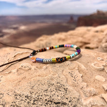 "Load image into Gallery viewer, ""Moab"" Fiber Threads with Herkimer Diamond, Opal, Turquoise Stone Wanderlust Bracelet"