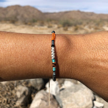 "Load image into Gallery viewer, ""I am Human"" Fiber Threads with Merino Wool Wanderlust Bracelet"