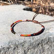 "Load image into Gallery viewer, ""I am Stronger with my Imperfections"" Fiber Threads with Merino Wool Wanderlust Bracelet"