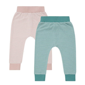 Baby Pant YOY Light Teal Stripes von Sense Organics