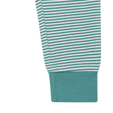 Laden Sie das Bild in den Galerie-Viewer, Baby Pant YOY Light Teal Stripes von Sense Organics