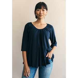 Umstands- und Stillshirt Breeze Blouse in midnight blue von boob