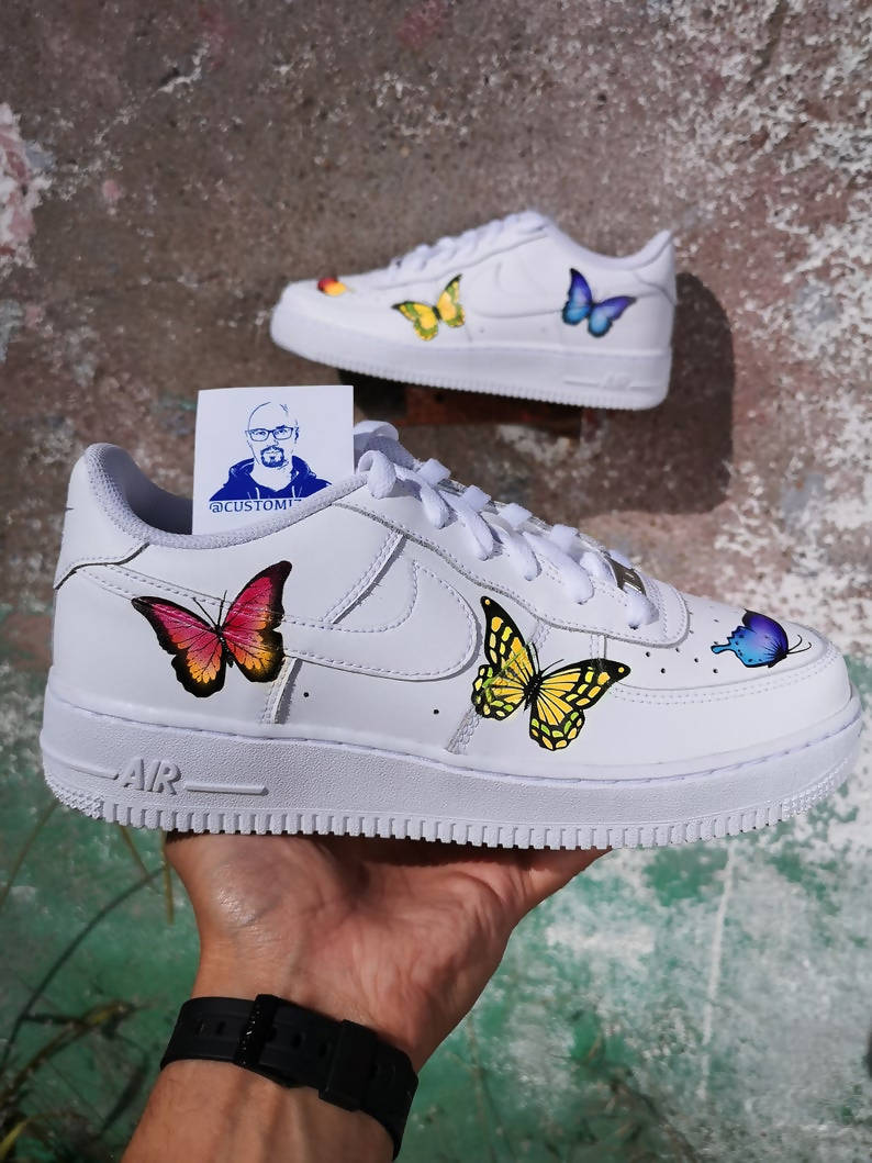 air force ones butterfly