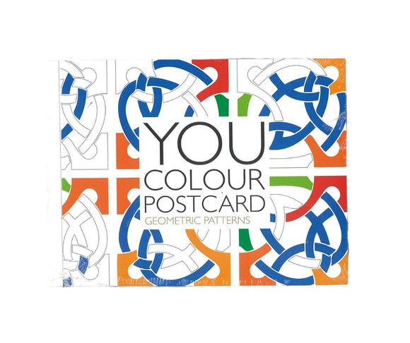 You Colour Postcard - Geometric patterns