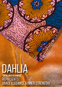 """Dahlia"" Satin-Lined Headwrap"
