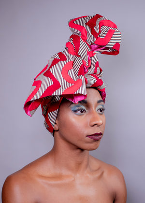 Pink Wave  | Satin-Lined Headwrap