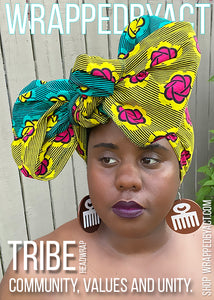 """Tribe"" Satin-Lind Headwrap"
