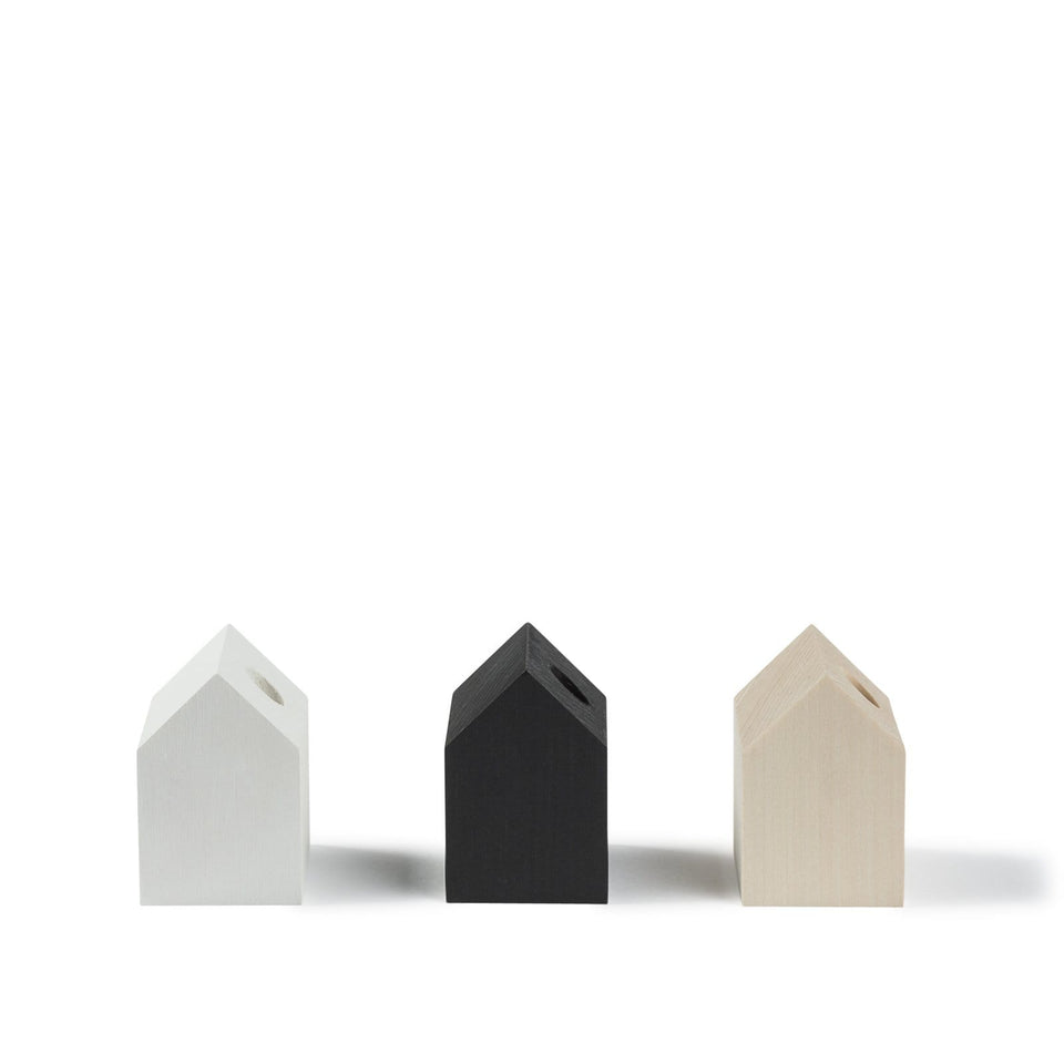 Cinqpoints Accessori Tiny House Black - Porta penna/matita da scrivania in legno