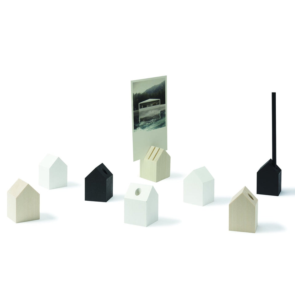 Cinqpoints Accessori Tiny House White - Porta penna/matita da scrivania in legno