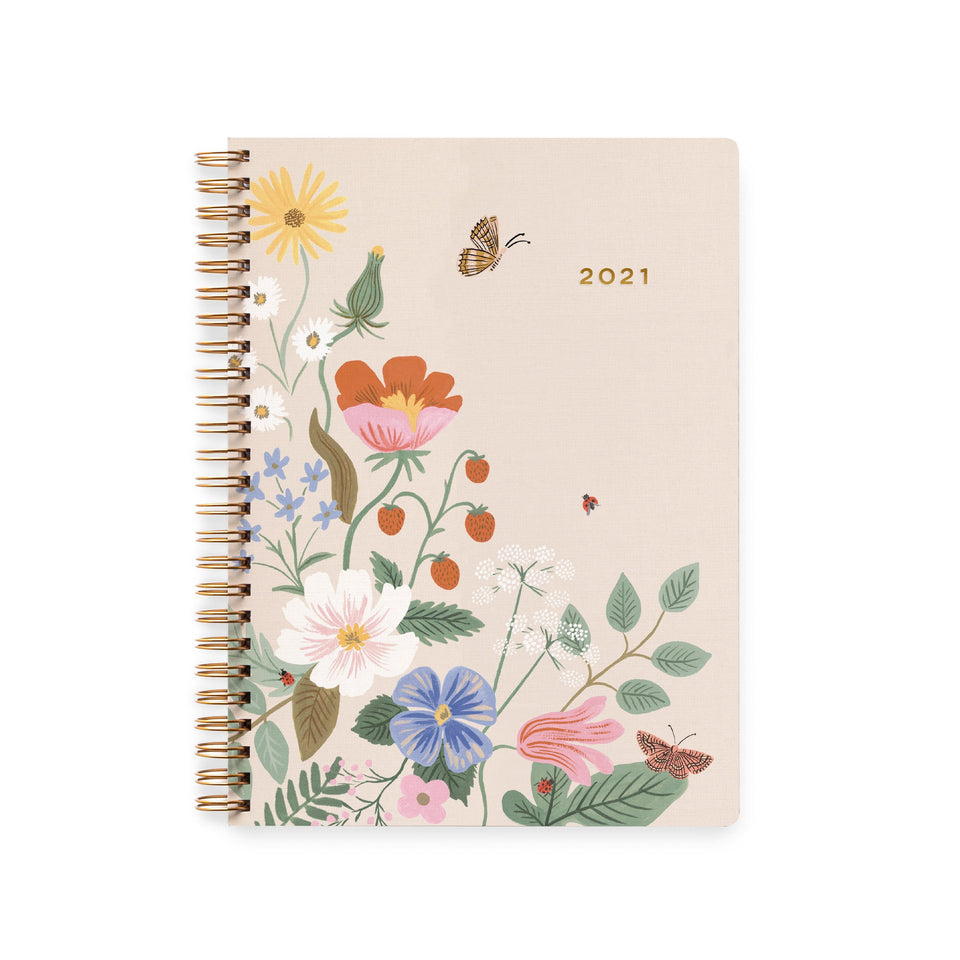 Rifle Paper Bullet journal e agende Agenda Strawberries Fields 2021